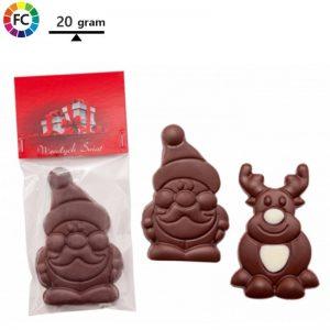 bedrukte kerstchocolaatjes