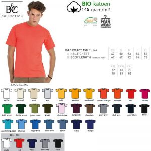 T-shirt B&C Collection #E150 Unisex-0