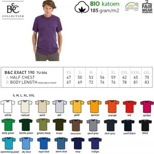 T-shirt B&C Collection Exact 190 Unisex-0