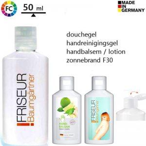 bedrukte flesjes shampoo