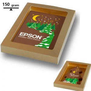 chocolade kerstkaart met logo