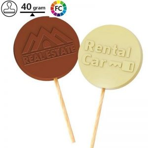 chocolade lolly met reliëf