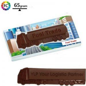 chocolade vrachtwagens met eigen logo