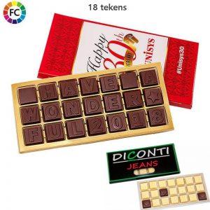 chocotelegram bestellen chocoladetelegrammen laten maken 21 tekens