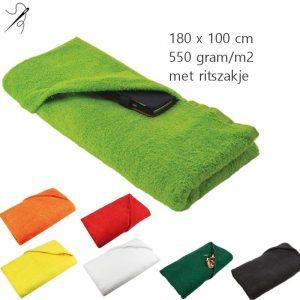 Strandlaken 550 gram Zipper-0