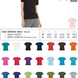 T-shirt B&C Collection #E150 Dames-0
