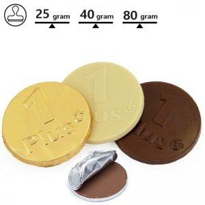 Chocolade munten logoreliëf-0