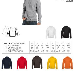 Hoodie sweater B&C Collection -0