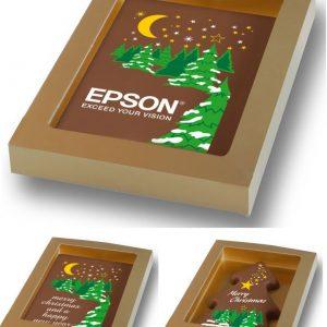 Kerst chocolade kaart-0