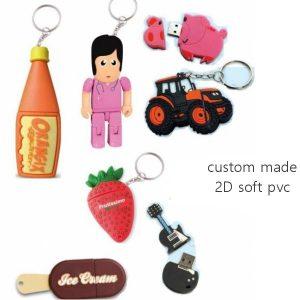 USB sticks custom 2D rubber-0