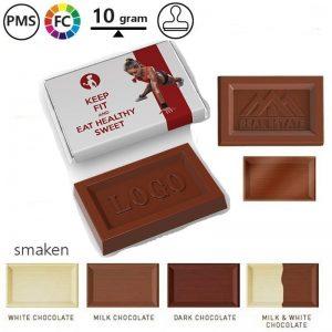 logochocolaatjes met logo in reliëf
