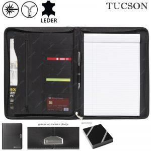 Leren schrijfmappen A4 Tucson emperor-0