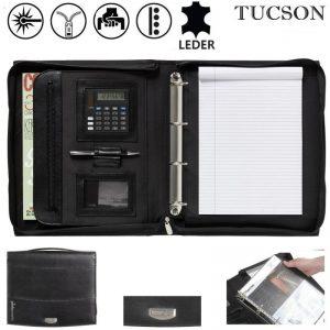 Leren schrijfmappen A4 Tucson President-0