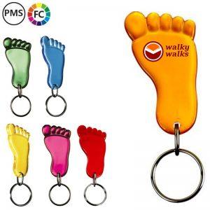 voeten sleutelhangers bedrukken bedrukte voetjessleutelhangers