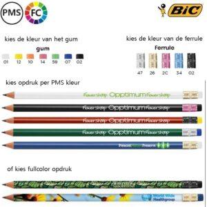 BIC bedrukte potloden met logo bedrukken