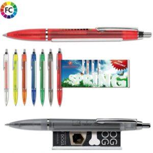 bannerpennen bedrukken pennen met een papieren rolletje erin frost