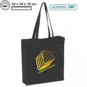canvas boodschappentassen ebdrukken met logo noire