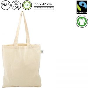 Katoenen BIO tas fairtrade Fairgo-0