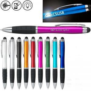 light up logo touch pen