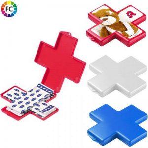 pleisterdoosjes-bedrukken kruisvormige doosjes met pleisters