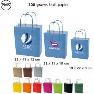 gekleurde papieren tasjes bedrukken