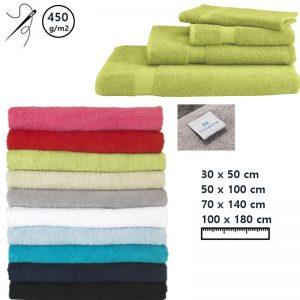 Handdoeken Solaine 450 gram met borduring-0