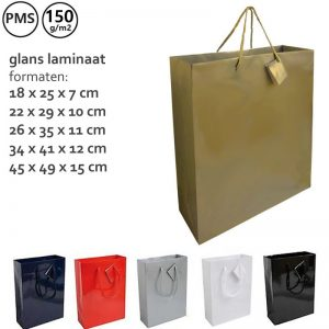 Glanslaminaat papieren tassen Bonella-0