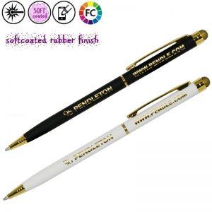 nelly rubberized dunne metalen pennen bedrukken