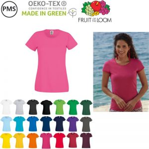 bedrukte dames t-shirts fruit of the loom original T