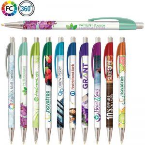 fullcolor bedrukte pennen bestellen scarlet