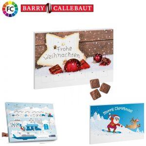 adventkalenders bedrukken chocoladekalenders met eigen bedrukking A5