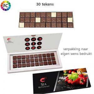 chocolade telegram bestellen chocotelegram eigen logo 30 tekens