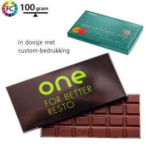 chocoladereep in kartonnen doosje bedrukken