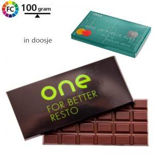 chocoladereep in kartonnen doosje bedrukken clia