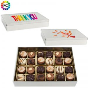 bedrukte bonbons in blik chocolade bedrukken