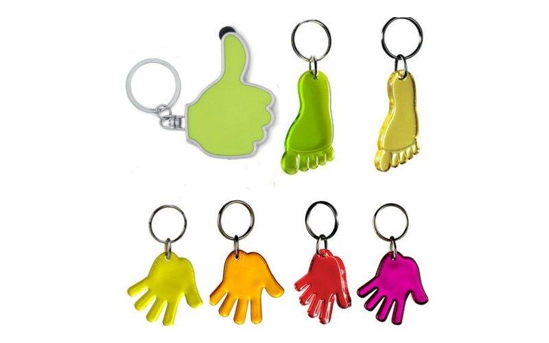 Handen en voeten sleutelhangers bedrukken