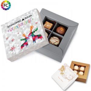 geschenkdoos handwerk bonbons 4 stuks