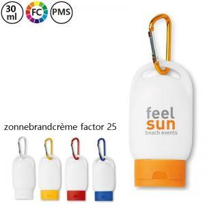 bedrukte flesjes zonnebrand met eigen logo