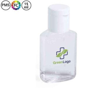 bedrukte desinfecterende handengel met logo