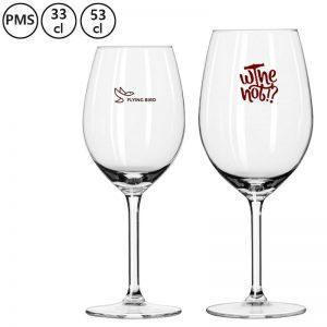 bedrukte wijnglazen bedrukken met eigen logo Alma