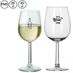 bedrukte wijnglazen met eigen logo bedrukken Mechon