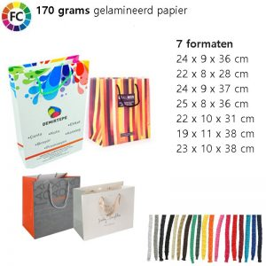 gelamineerde papieren tassen fullcolor medium extra