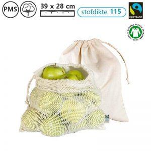 groente fruittasjes fairtrade veggiebag groentetasjes bedrukken