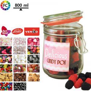 weckpotten met snoep bedrukken snoeppotten 800 ml