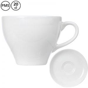 cappuccino kop en schotels bedrukken Irta 20 cl