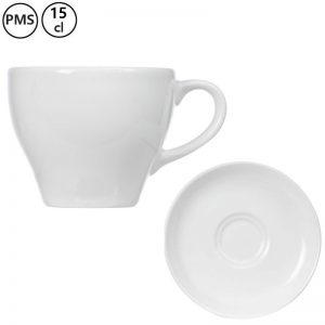 koffie kop en schotels bedrukken Irta 15 cl