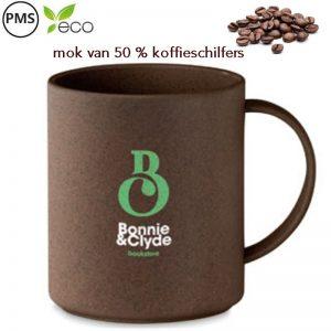 koffiemokken van koffieschilfers bedrukken eco koffiebekers
