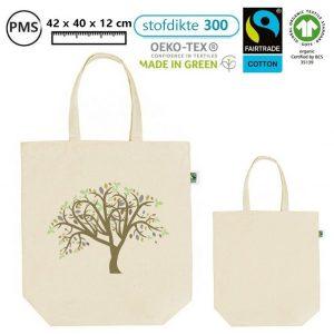 fairtrade tassen ebdrukken bedrukte biokatoenen tassen