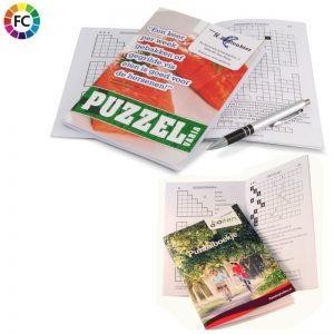 puzzelboekjes bedrukken met eigen logo bedrukte puzzelboekjes