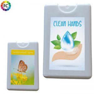 spraycard antibacteriele spray bedrukt zeep met logo bestellen